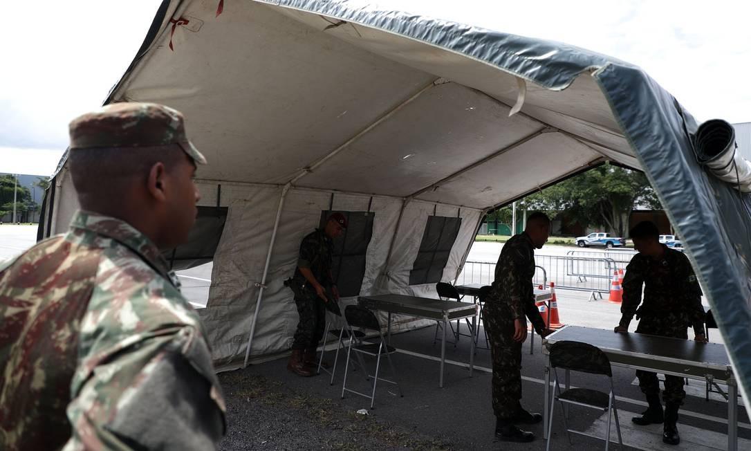 Haverá dez postos de vacinação no Riocentro Foto: Fabio Motta / Agência O Globo