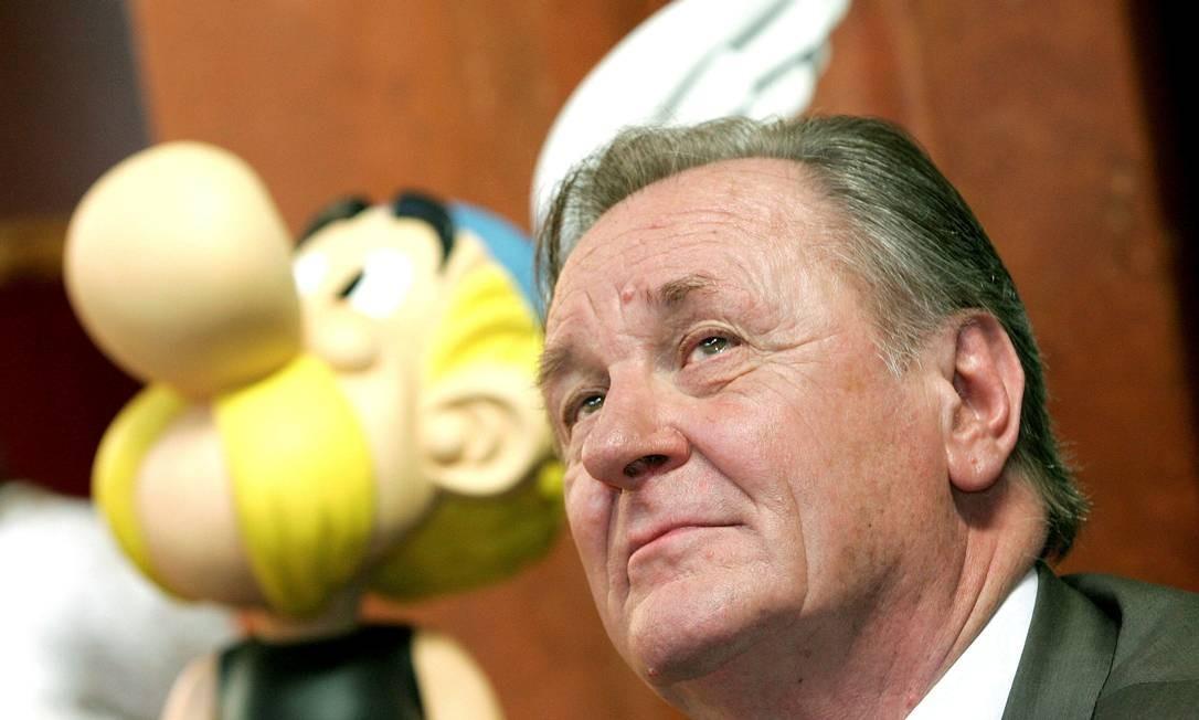 O criador de Asterix, Albert Uderzo, em 2005 Foto: Yves Herman / REUTERS