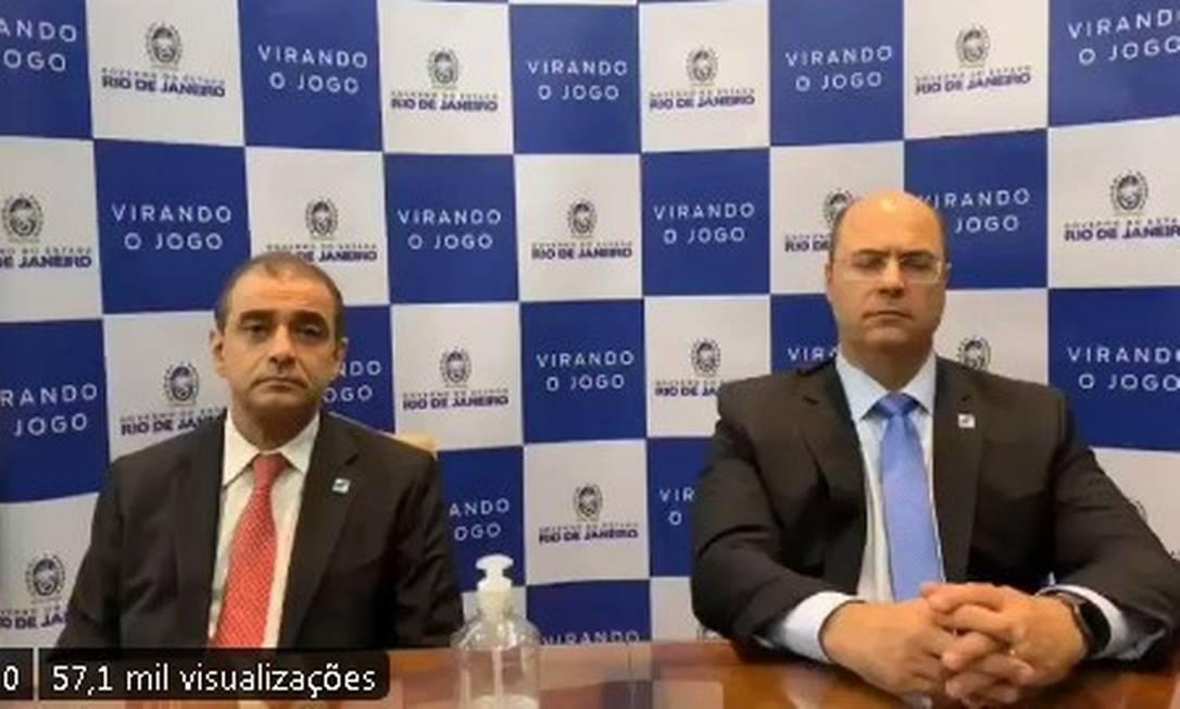 Em vídeo aós pronunciamento de bolsonaro, Witzel pede à população que fique em casa Foto: Reprodução