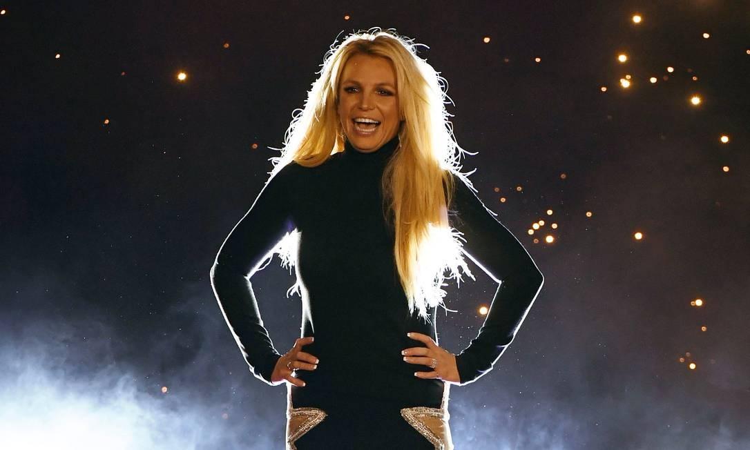 Britney Spears durante anúncio de sua residência em Las Vegas, em 2018 Foto: Ethan Miller / AFP