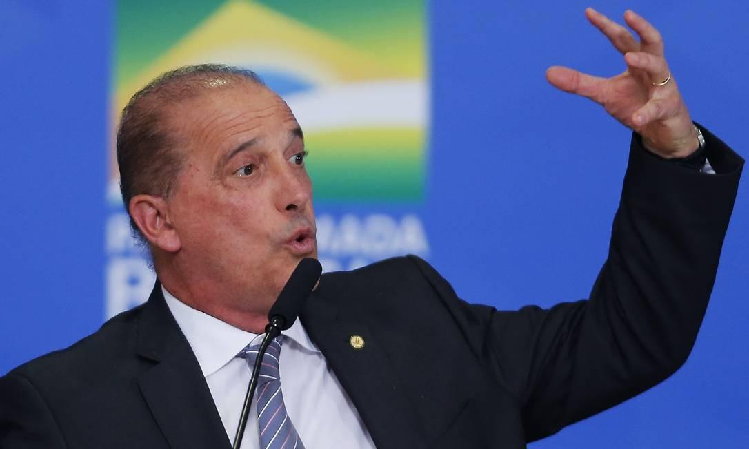 O ministro da Cidadania, Onyx Lorenzoni Foto: Jorge William / Agência O Globo