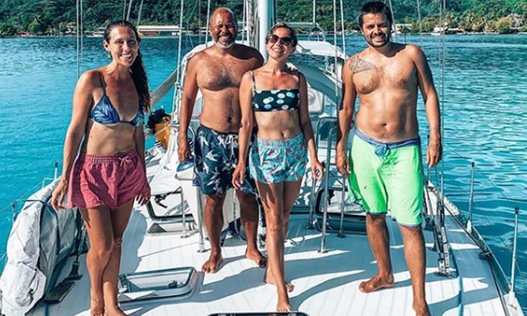 Casal de brasileiros esteve hospedado em veleiro de amigos Foto: Reprodução/ Instagran