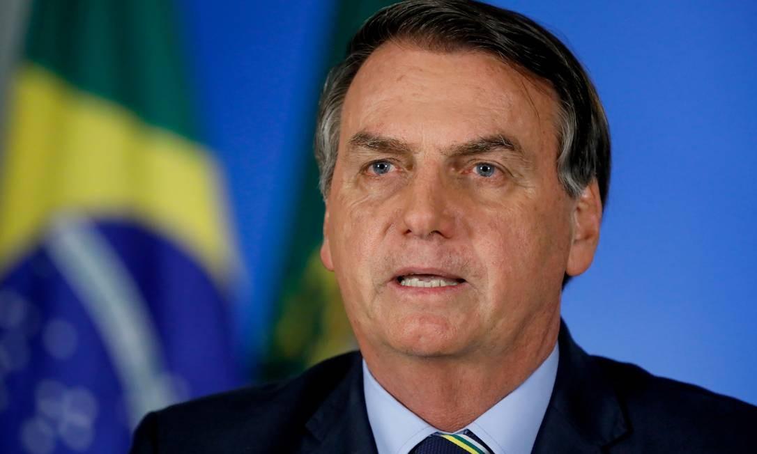Presidente Jair Bolsonaro em pronunciamento sobre novo coronavírus em rede nacional Foto: Isac Nóbrega / PR