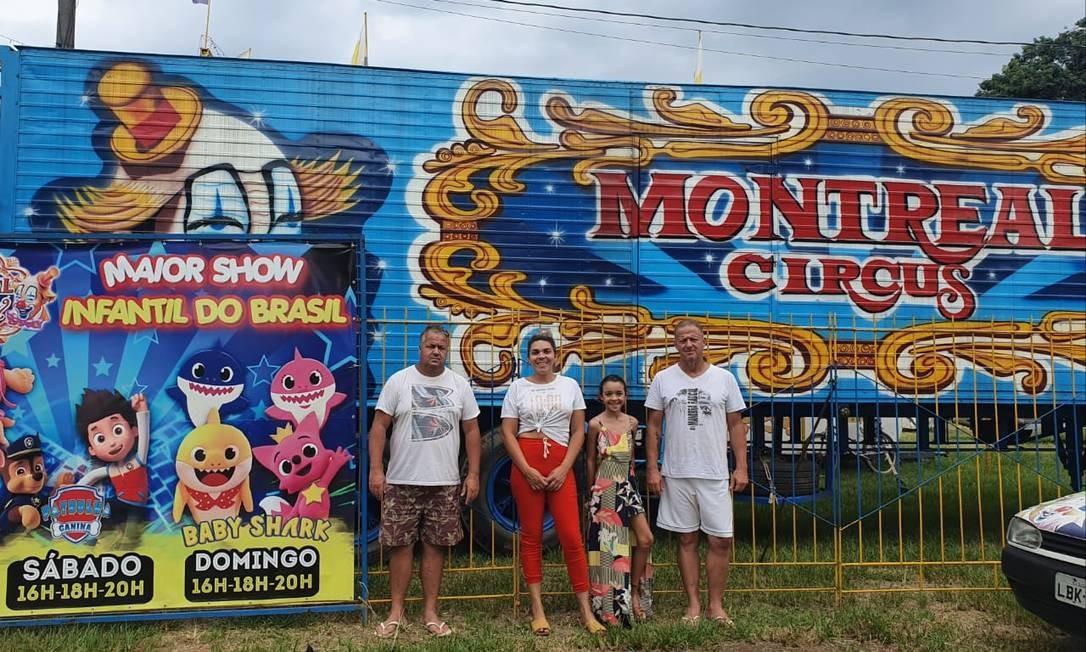 Montreal Circus: no momento em São Gonçalo, família depende do espetáculo Foto: Arquivo pessoal