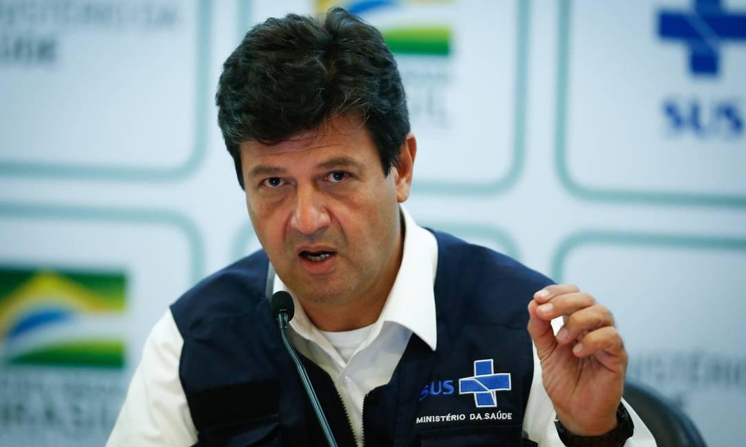 Luiz Henrique Mandetta deixou o ministério da Saúde por conflitos com o presidente Bolsonaro Foto: Pablo Jacob / Agência O Globo