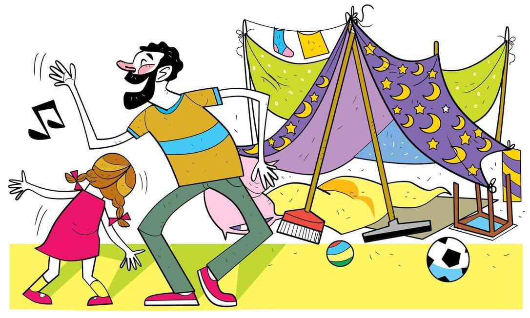 Guia tem atividades para crianças de todas as idades. Foto: Arte de André Mello