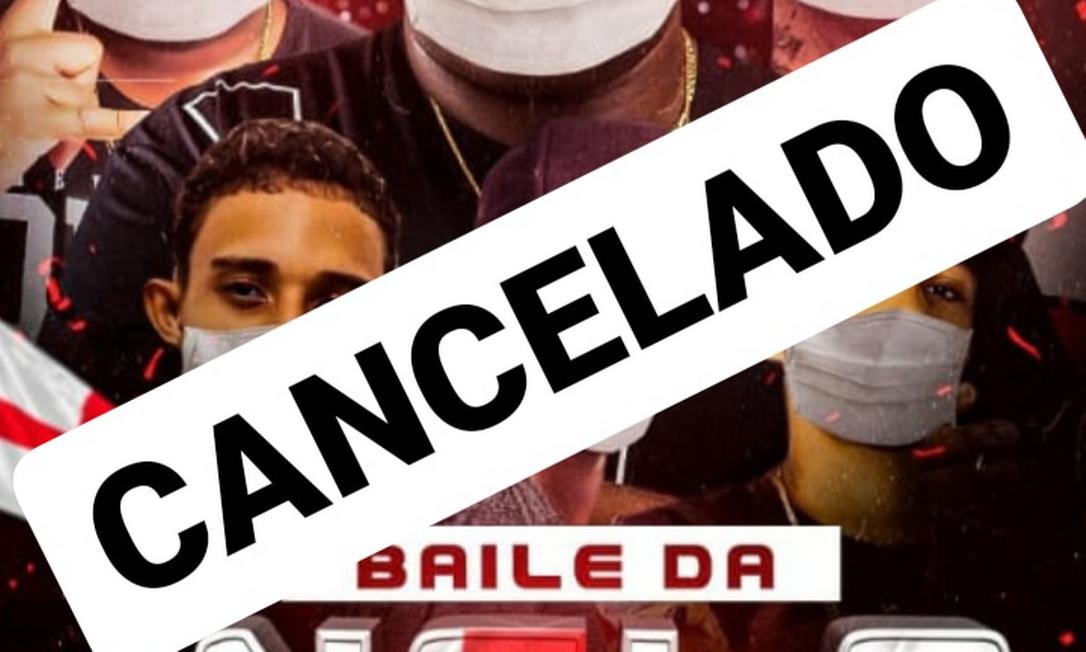 Baile funk foi cancelada em Duque de Caxias Foto: Reprodução