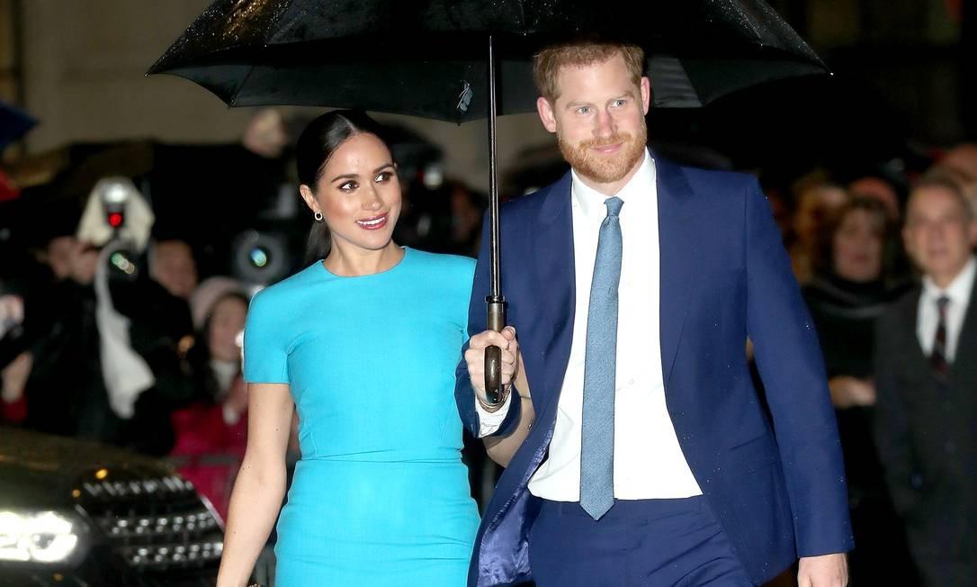 Meghan Markle e o príncipe Harry Foto: Chris Jackson / Getty Images