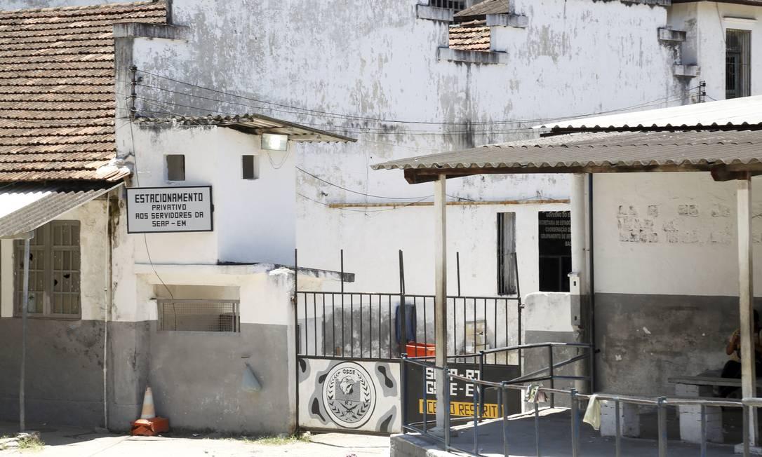 O presídio Evaristo de Moraes em São Cristovão Foto: Marcos Ramos / Agência O Globo / 10-01-2019
