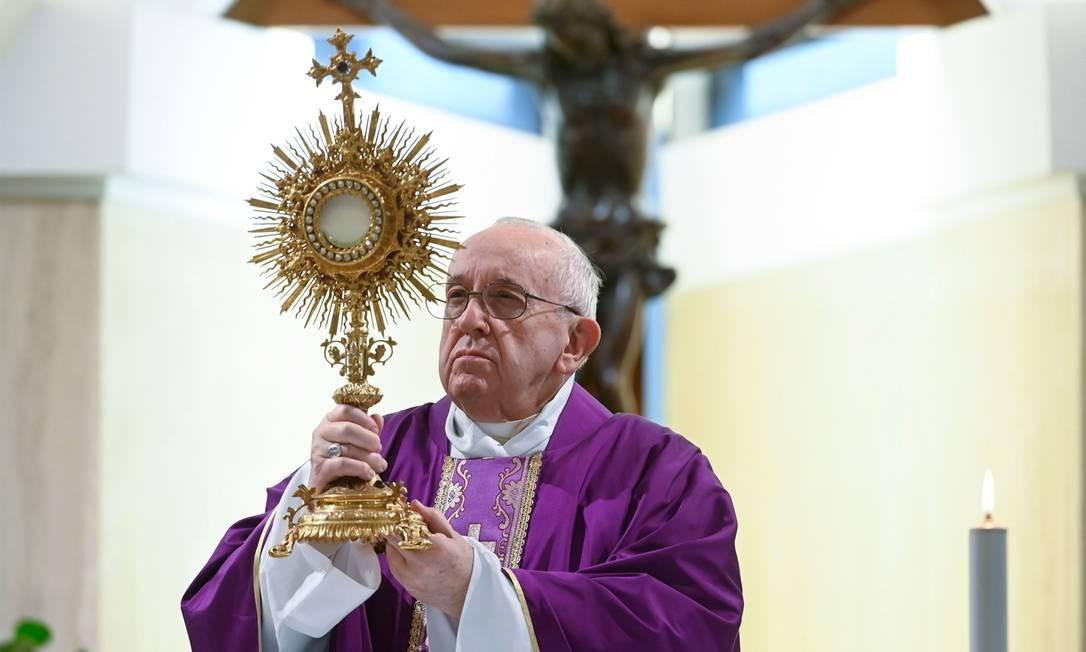 Papa Francisco testou novamente negativo para o coronavírus Foto: Vatican Media / AFP