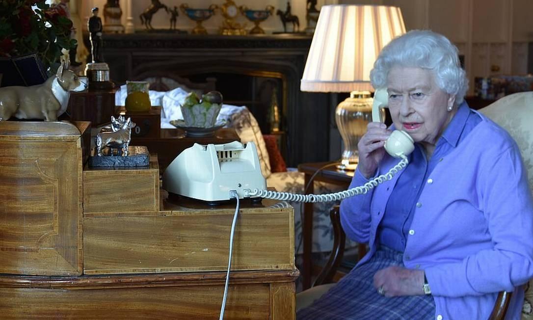 Rainha em reunião com Boris Johnson Foto: Divulgação