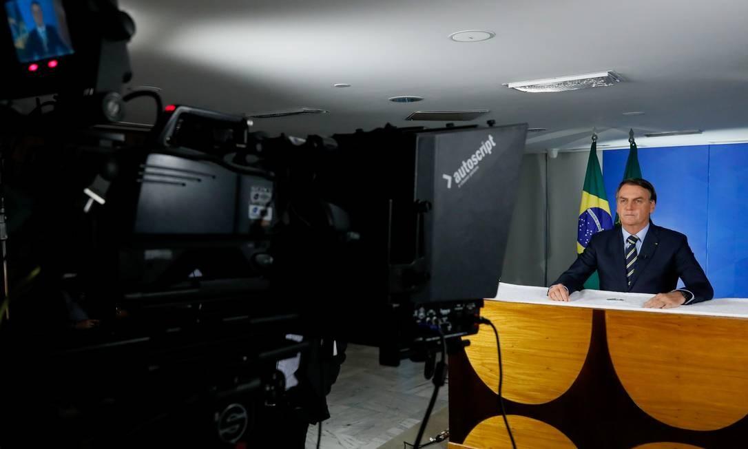 Pronunciamento do presidente Jair Bolsonaro sobre coronavírus Foto: Foto: Isac Nóbrega/PR / Agência O Globo
