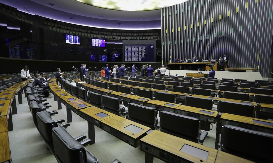 Planário da Câmara em reunião remota Foto: Michel Jesus / Câmara dos Deputados