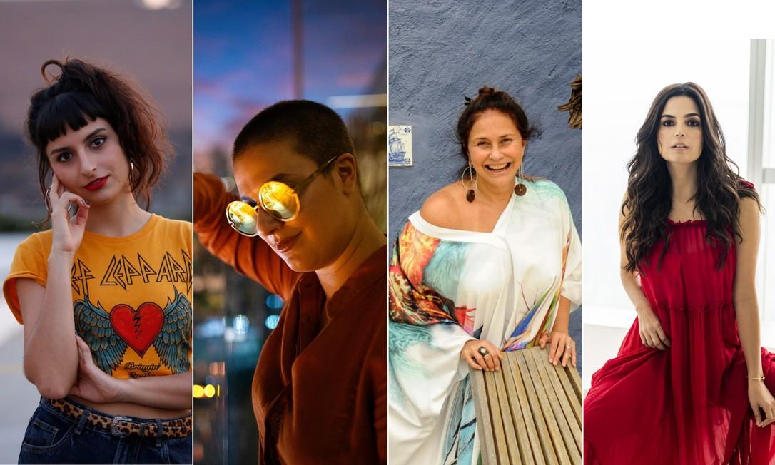 Duda Brack, Alice Caymmi, Fafá de Belém e Emanuelle Araújo estão entre as atrações de quinta Foto: Arte