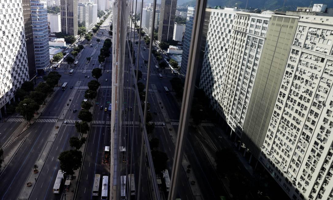 Avenida Presidente Vargas, no centro do Rio de Janeiro Foto: RICARDO MORAES / REUTERS