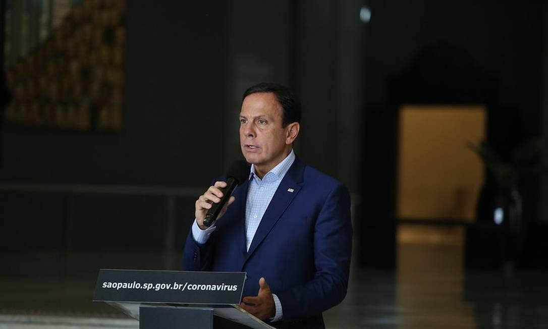 O governador de SP, João Doria Foto: Divulgação