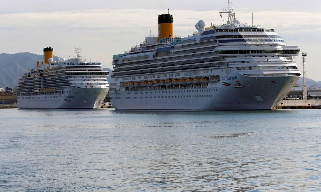 Em novembro do ano passado, o navio Costa Fascinosa estava no porto de Marselha, no sul da França. Foto: Jean-Paul Pelissier / REUTERS
