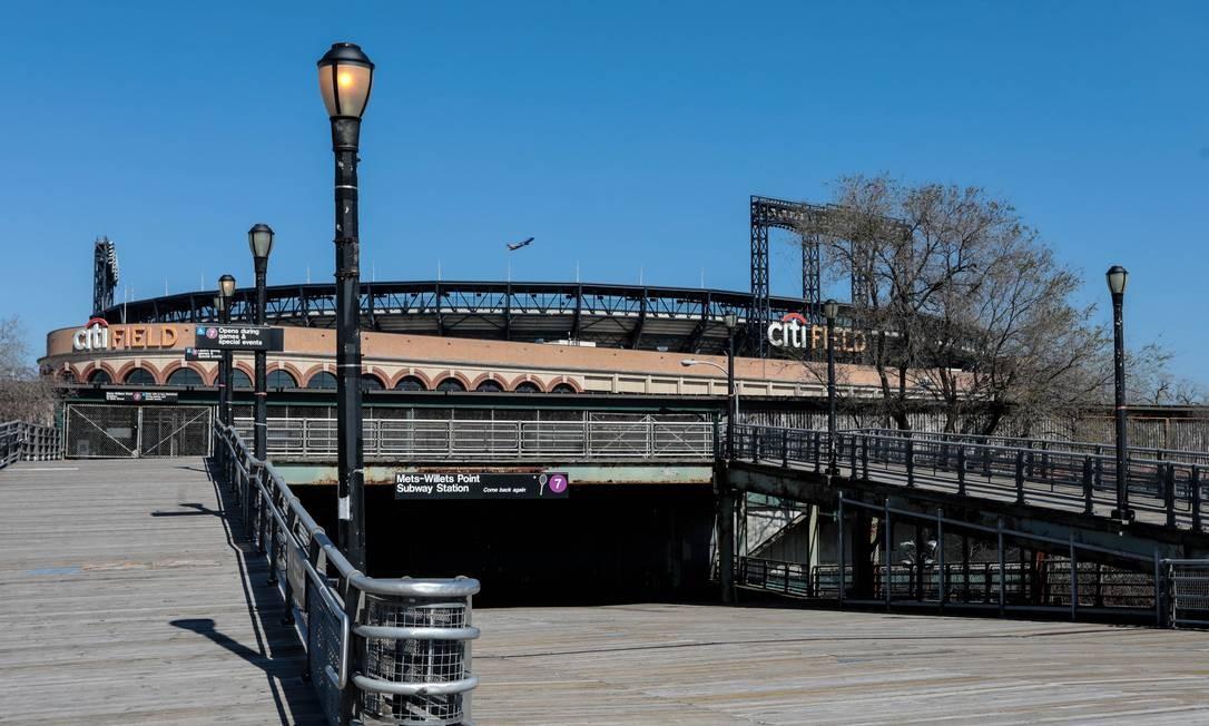 Visão geral do Citi Field. A abertura da temporada entre o Washington Nationals e o New York Mets foi adiada devido à pandemia de coronavírus Foto: Vincent Carchietta / USA TODAY Sports