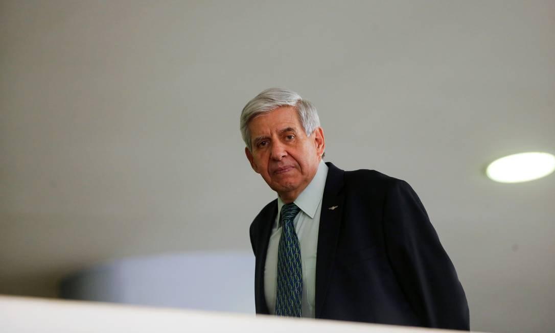 O ministro do Gabinete de Segurança Institucional, Augusto Heleno, durante evento no Palácio do Planalto Foto: Adriano Machado/Reuters/04-03-2020