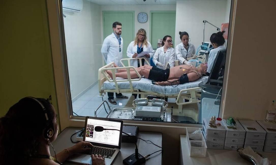 Curso de Medicina da Universidade Estácio de Sá, no Centro do Rio Foto: Alex Ferro / Divulgação