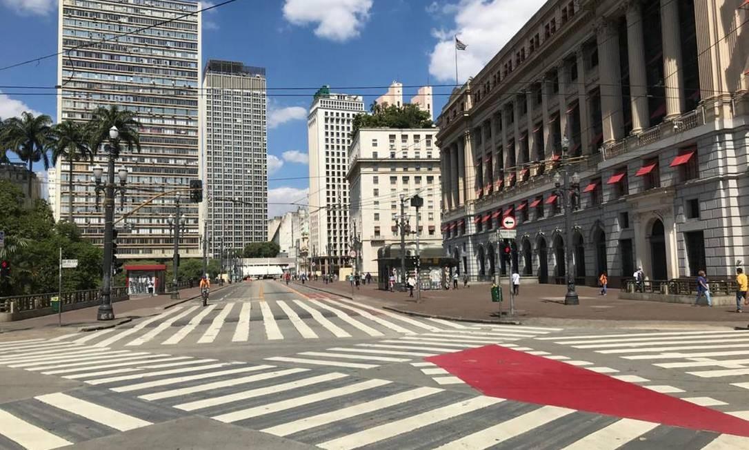 Viaduto do Chá no Centro de São Paulo Foto: Edilson Dantas / Agência O Globo