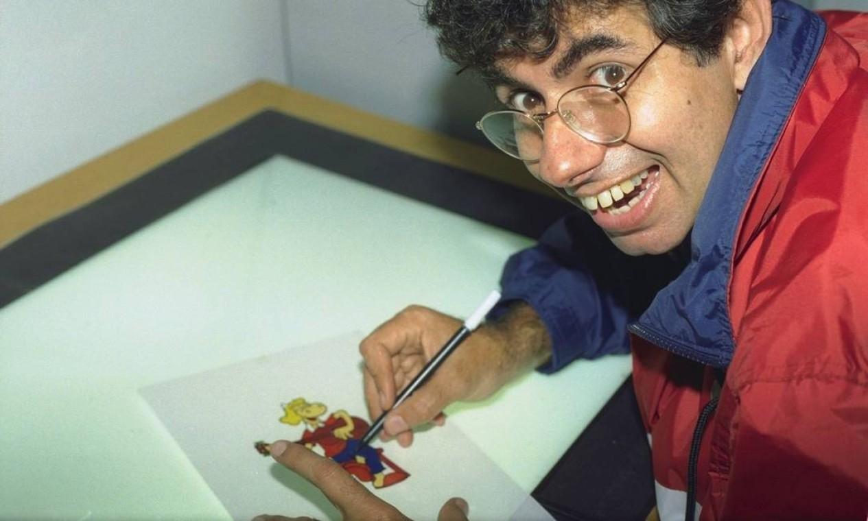 Nascido no Rio de Janeiro, Azulay era um desenhista autodidata Foto: Marco Antônio Teixeira / Agência O Globo