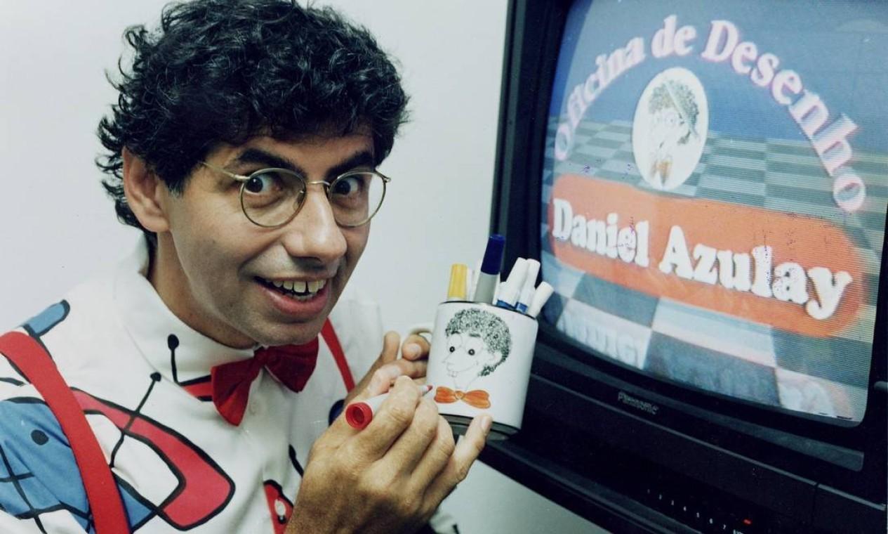 Azulay tornou-se popular nos anos 1970 e 80 por programas infantis na TV Foto: Gustavo Stephan / Agência O Globo