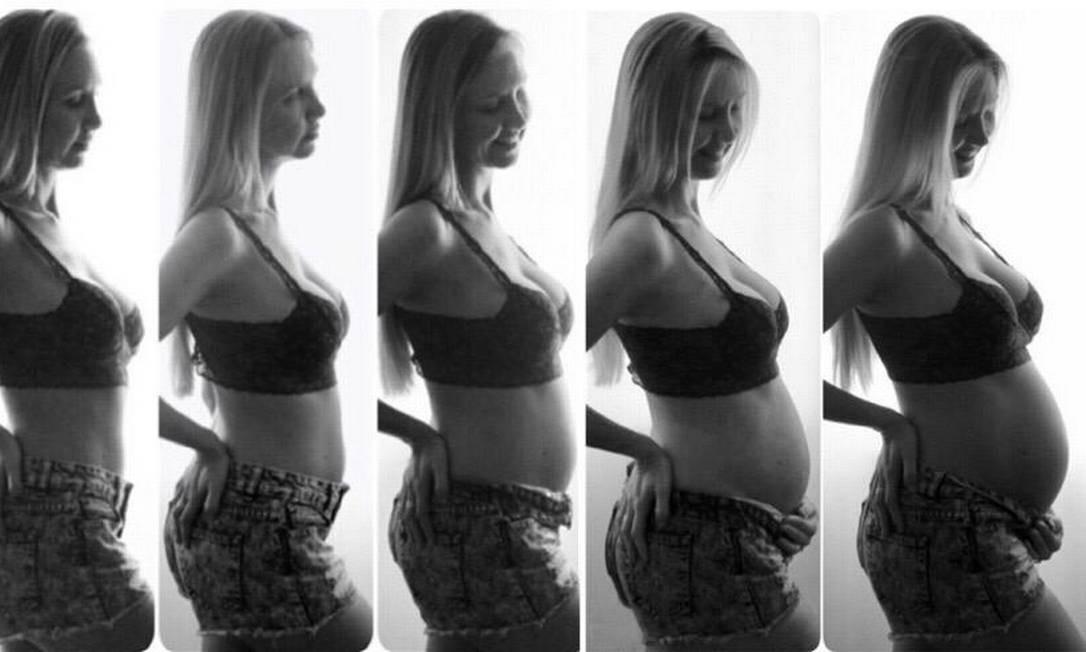 A grávida Daniela Cassol, que programa seu parto em meio a pandemia do coronavírus. Foto: Arquivo pessoal