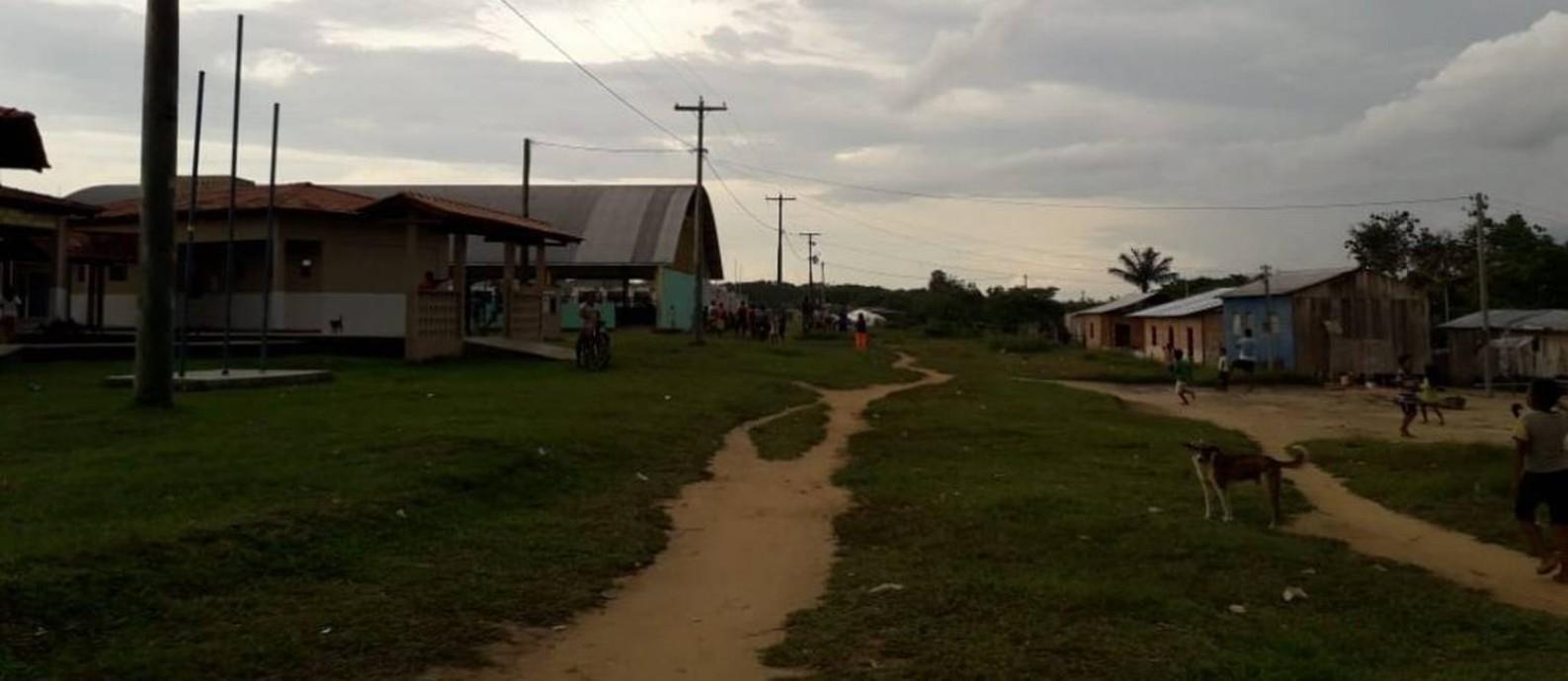 Aldeia Lago Grande, no Alto Solimões, onde cerca de 900 moradores ficarão isolados por 14 dias. Foto: Secretaria Municipal de Saúde de Santo Antônio do Içá