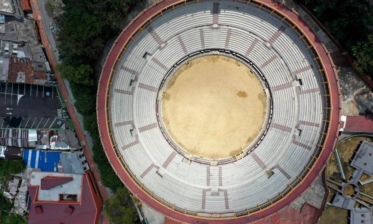 Praça de touros de Santamaría, em Bogotá Foto: RAUL ARBOLEDA / AFP