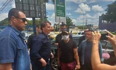 Bolsonaro durante tour pelo Distrito Federal neste domingo Foto: Bruno Góes
