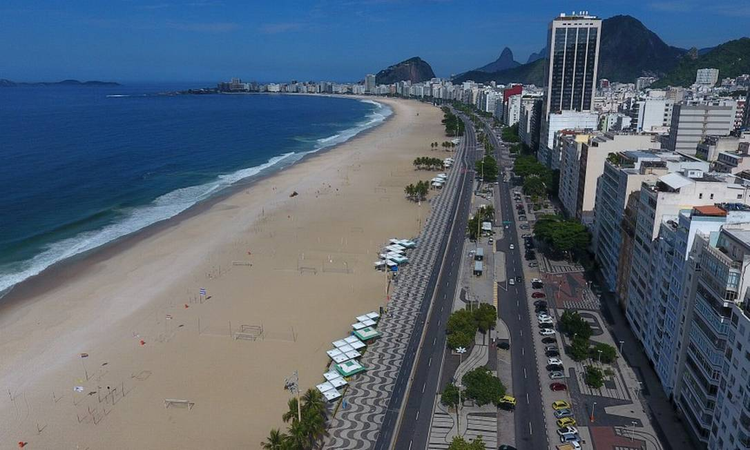 Domingo foi de sol mas com praias vazias Foto: FABIO MOTTA / Agência O Globo