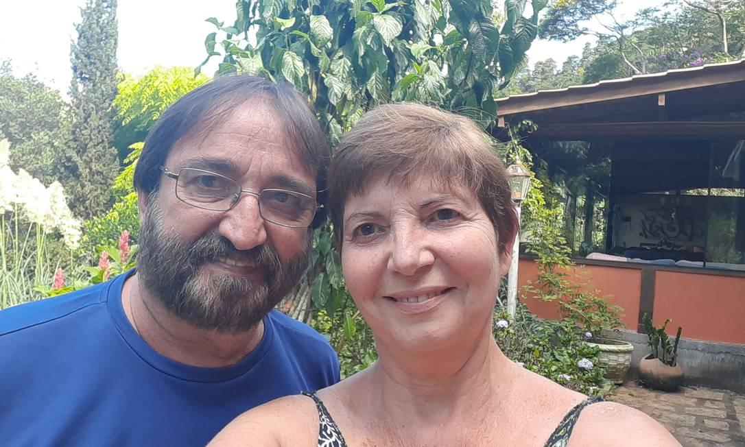 Casal Mônica e José Carlos em Teresópolis Foto: Reprodução