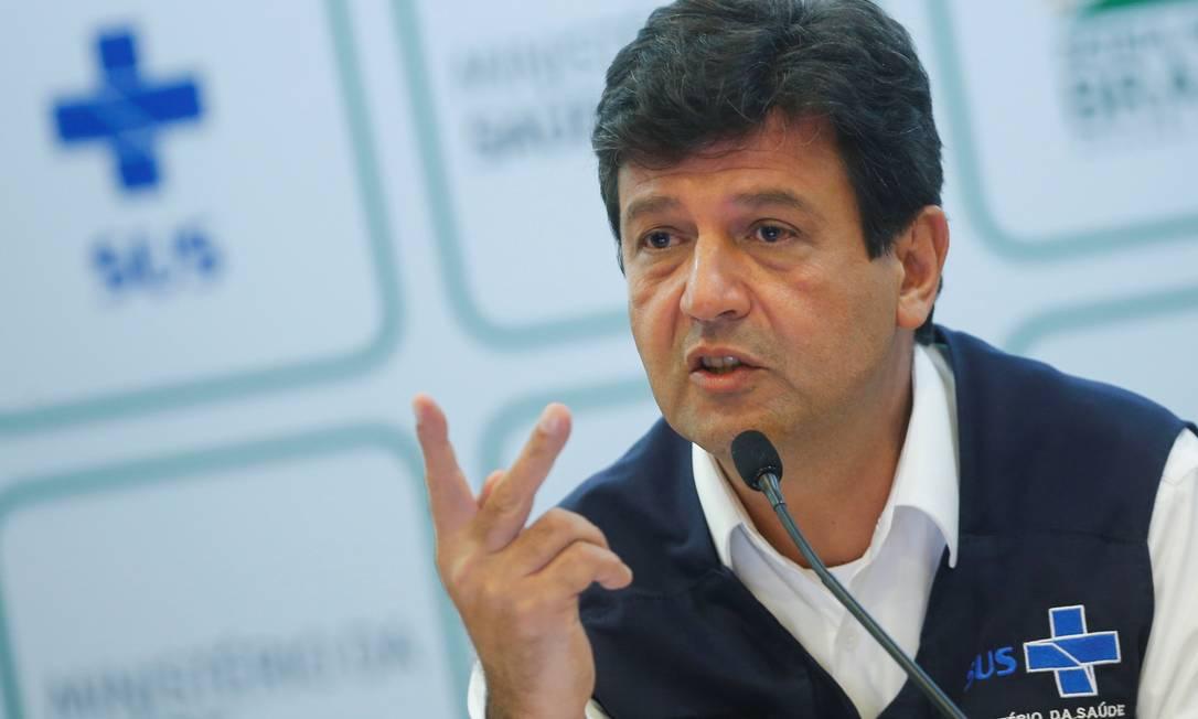 Ministro da Saúde, Luiz Henrique Mandetta Foto: Adriano Machado / REUTERS