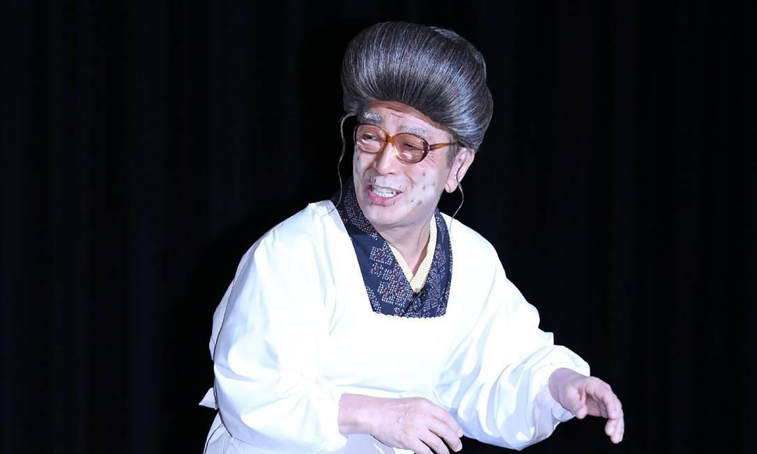 Ken Shimura durante apresentação em Tóquio, em setembro de 2016 Foto: STR / AFP