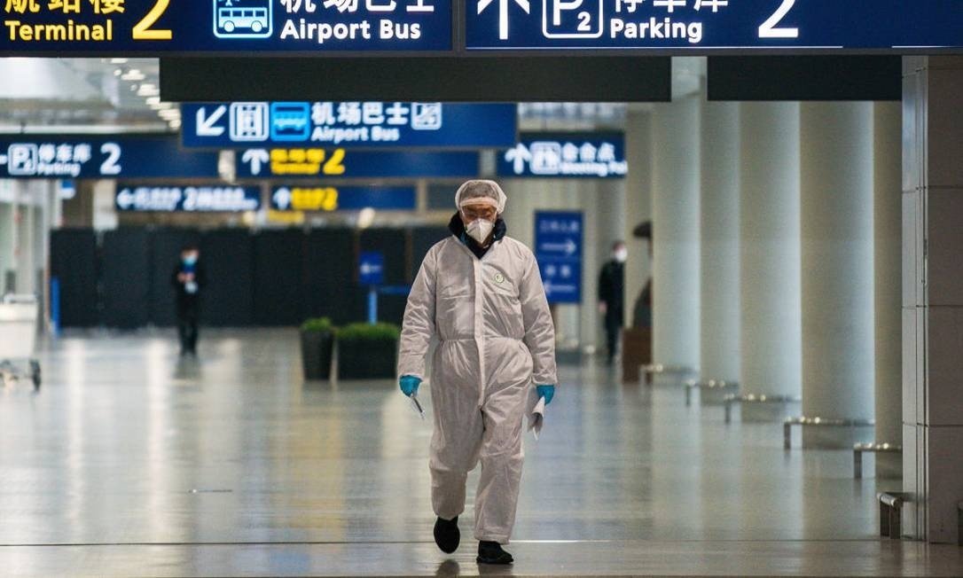 Aeroporto internacional em Xangai: chineses temem nova onda de coronavírus Foto: Yifan Ding / Getty Images