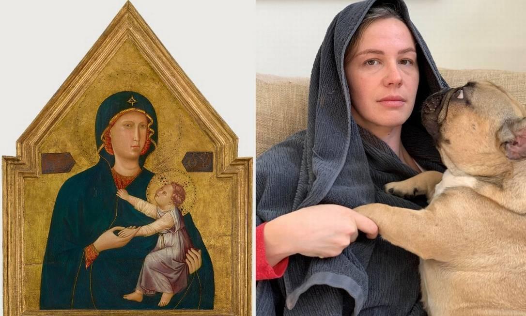 Brincadeira do Getty Museum propõe replicar obras de arte durante a quarentena contra a Covid-19 Foto: Reprodução/Twitter