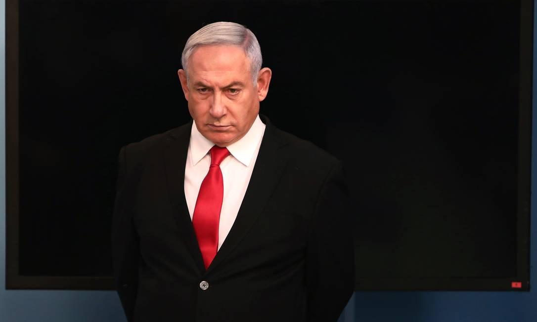 Benjamin Netanyahu já havia se isolado por causa da contaminação de uma assessora Foto: GALI TIBBON / AFP