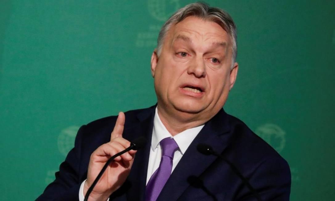 Premier húngaro, Viktor Órban, durante evento em Budapeste Foto: Bernadett Szabo / REUTERS / 10-03-2020