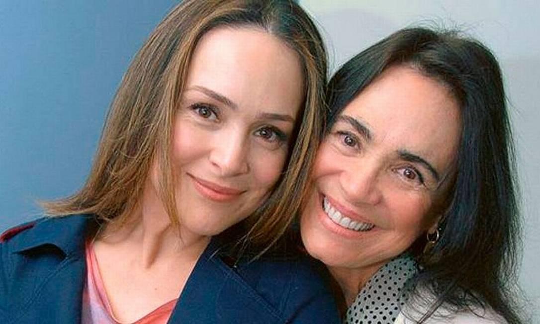 Regina Duarte e a filha, Gabriela Duarte Foto: Reprodução