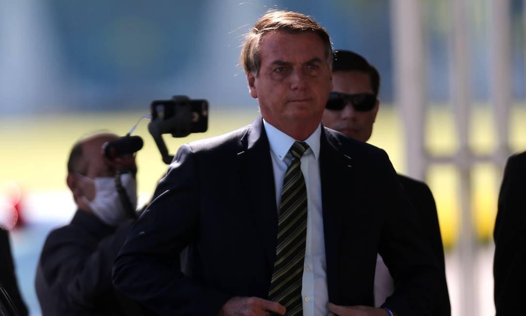 O presidente Jair Bolsonaro no Palácio da Alvorada 30/03/2020 Foto: Jorge William / Agência O Globo