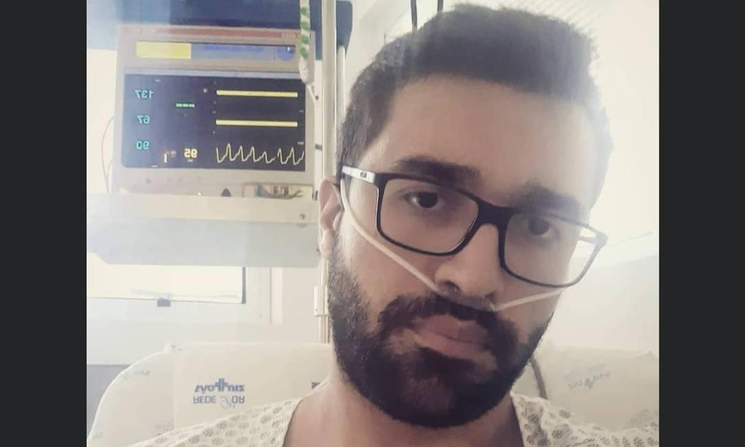 Vitor Luis ficou uma semana internado por conta do coronavírus Foto: Arquivo pessoal