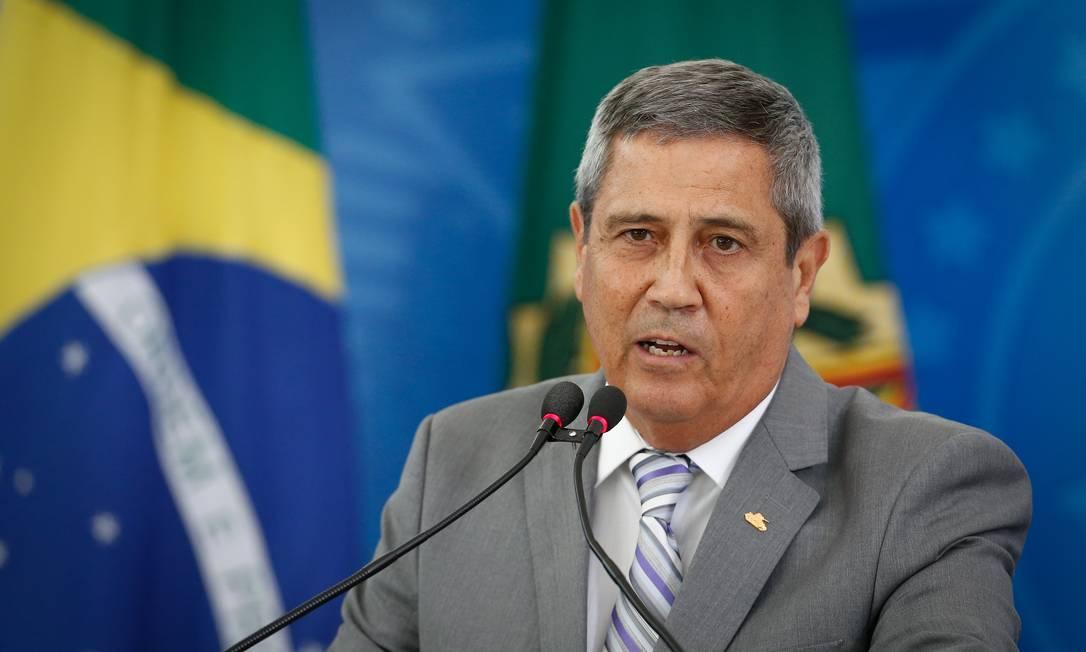 O ministro da casa Civil, Braga Netto 25/03/2020 Foto: Pablo Jacob / Agência O Globo