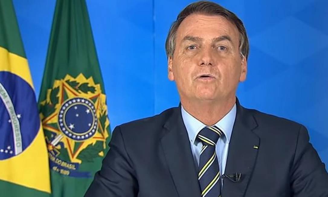 Vídeo do presidente Jair Bolsonaro foi removido pelo Facebook e pelo Instagram Foto: Reprodução