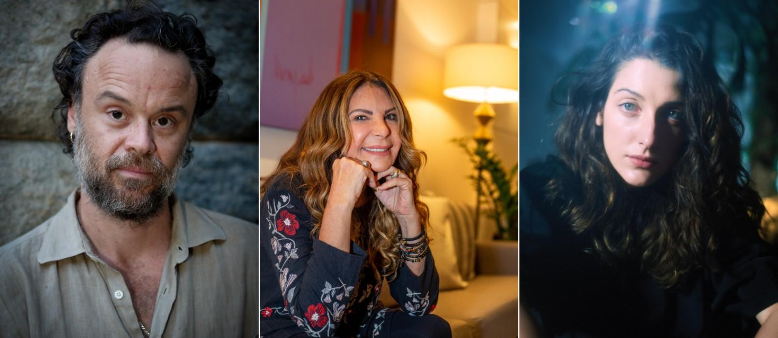 Rodrigo Amarante, Elba Ramalho e Clarice Falcão estarão no festival digital #tamojunto Foto: Roberto Moreyra/Gabriela Fittipaldi/Divulgação (Pedro Pinho)