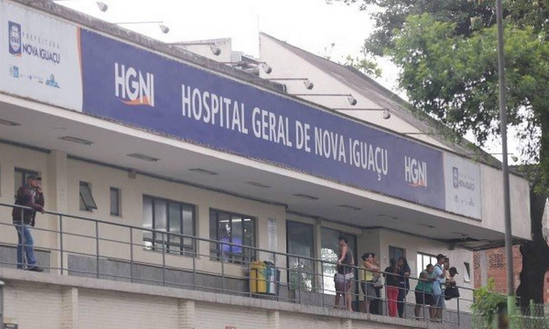 Hospital Geral de Nova Iguaçu, na Baixada Fluminense Foto: Cleber Junior / O Globo - 06.11.2019