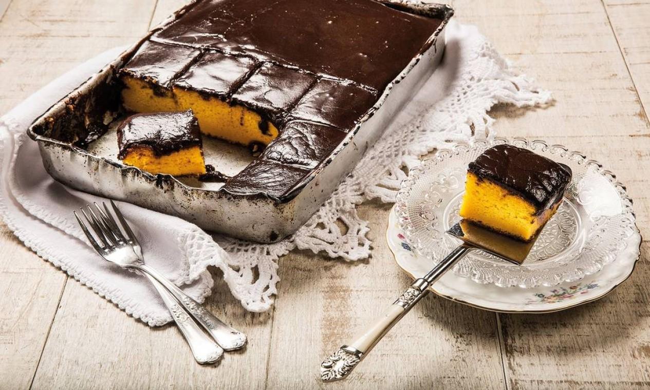 Ana Luiza Trajano: bolo de cenoura com cobertura de chocolate Foto: Divulgação