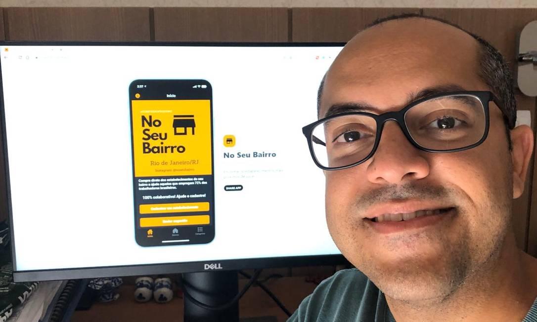 Vitor Rosas, autor do aplicativo 'No seu bairro' Foto: Arquivo pessoal
