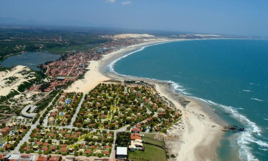 Vista áerea da cidade de Aquiraz, Região Metropolitana de Fortaleza Foto: Reprodução