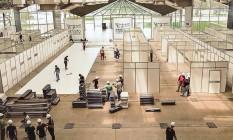 Montagem de hospital de campanha em Belém: especialistas reivindicam construção de novas estruturas para atender pessoas que serão infectadas pela Covid-19 Foto: Divulgação/Agência Pará